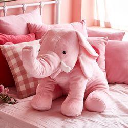 자이언트엘리 빅사이즈 코끼리 동물 애착인형 핑크