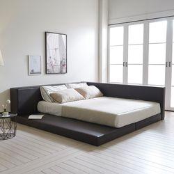 해피니스 저상형 가드형 가죽 퀸 침대 매트세트 sy630