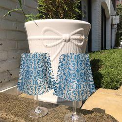 아라베스크 블루 와인잔 쉐이드 + LED 티라이트