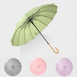 16개 우산대 튼튼한 장우산 4color
