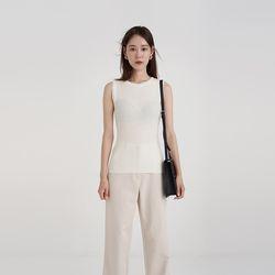 slim golgi sleeveless knit (5colors)