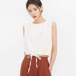 string round sleeveless
