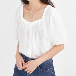 lovely puff half blouse
