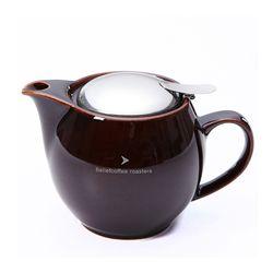 제로재팬 티포트 라운드 450ml 안티크브라운 (Beliefcoffee)