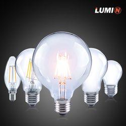 뉴올빔 LED 에디슨전구 6W 글로브 전구색