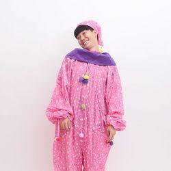 [~10/31까지] 삐에로 의상 광대옷 (핑크)