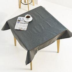 어반블랙 방수 테이블보 4인 100x150