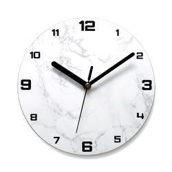 이니셜각인 무소음벽시계 넘버베이직 스톤화이트