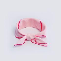 [율그란]무형광 오가닉 거즈 유아스카프손수건발레리나 핑크