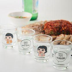 돼지남매 캐릭터 다이어트 소주잔 4p