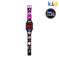 [시계] 블랙 콜라향 향기 솔솔 LED 시계 (콜라향)
