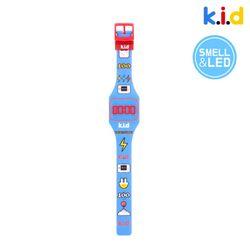 [시계] 블루 쿠키향 향기 솔솔 LED 시계 (쿠키향)