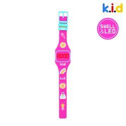 [시계] 핑크 딸기향 향기 솔솔 LED 시계 (딸기향)