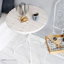 YG빈티지 화이트 테이블  원형 빈티지 테이블