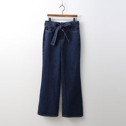 Ribbon Dark Bootcut Jeans