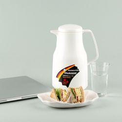 독일 진공유리 보온보냉주전자 - 클래식 1L (화이트)