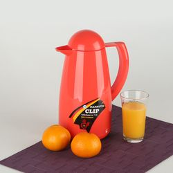 독일 마쿠텍 강화유리 보온보냉주전자 - 클립 1L (오렌지)