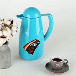 독일 마쿠텍 강화유리 보온보냉주전자 - 클립 1L (피콕블루)