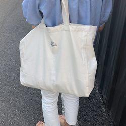 slowstitch big basic bag