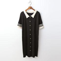 Smart Collar Knit Dress