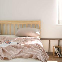 빈치 모달 와플 홑이불 겸 스프레드-pink beige(L)