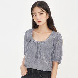 cherish square check blouse