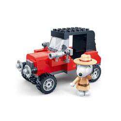 스누피 블럭(탐정자동차)