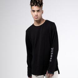 [벤크] 퍼포먼스 슬리브 티셔츠 블랙