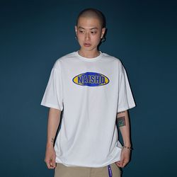NAISHO CIRCLE LOGO Yellow BLUE T- SHIRT
