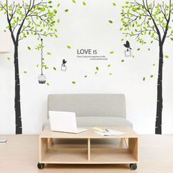 ph372-나뭇잎이흩날리는올리브트리그래픽스티커