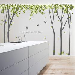 ph375-나뭇잎이흩날리는나무숲(시간)그래픽스티커