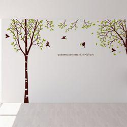 ph374-새들이있는자작나무숲(시간)그래픽스티커