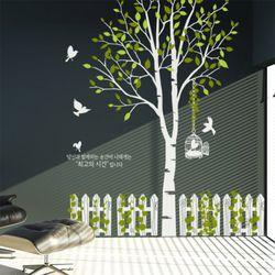 ph367-행복한자작나무(시간)그래픽스티커