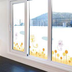 ic392-나비와꽃밭불투명유리시트