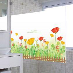im813-봄날활짝핀꽃들불투명유리시트