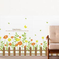 im818-따뜻함이가득한꽃울타리불투명유리시트