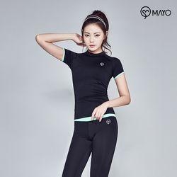 마요 요가복 소매포인트 반팔 티셔츠 MY7TS19