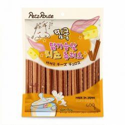펫츠루트 찜쿡 닭가슴살 치즈 츄러스 400g