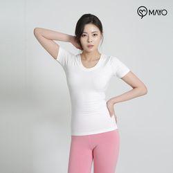 마요 요가복 브이넥 반팔 티셔츠 MY7TS21