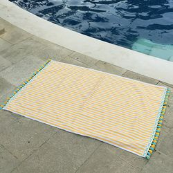 Yellow Stripe - Beach Towel