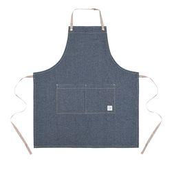 Reversible indigo apron  blue [ARC1123] 실버이름판