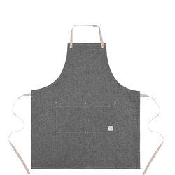Reversible indigo apron  gray [ARC1125] 청동이름판