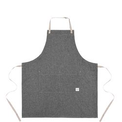 Reversible indigo apron  gray [ARC1125] 실버이름판