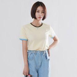 [로코식스] 마카롱 배색 티셔츠