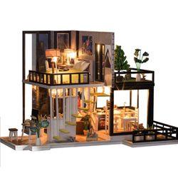 [adico]DIY 미니어처 풀하우스 - 힐하우스