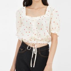 heart shaker crop blouse