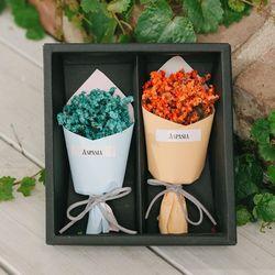 에마블 미니 꽃다발박스-미니꽃다발 프리저브드 플라워박스