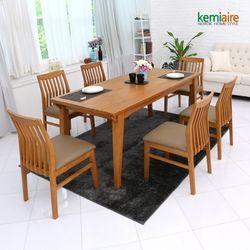 토스카나 6인용 원목식탁세트(의자형) KCE-658