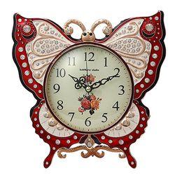 나비 탁상시계 레드 모닝시계 인테리어시계 CH1346334