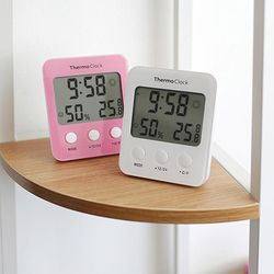BIG LCD 온습도 알람 캘린더 탁상시계 온습도시계